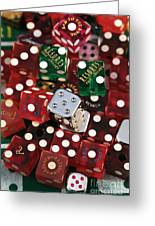 Dice Greeting Card by John Rizzuto
