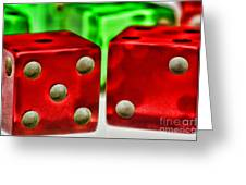 Dice - Lucky Seven Greeting Card