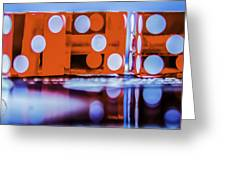 Dice Reflections Greeting Card