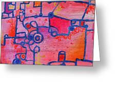 Dichotomy  Original Abstract Oil Painting By Regina Valluzzi Greeting Card