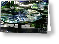 Dichromic Lily Pad Greeting Card