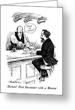 Dickens' First Encounter With A Martini Greeting Card