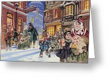 Dickensian Christmas Scene Greeting Card