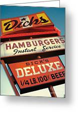 Dick's Hamburgers Greeting Card