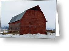 Dictionary's Red Barn Greeting Card