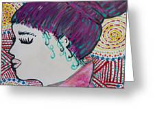 Did You See Her Hair Greeting Card by Jacqueline Athmann