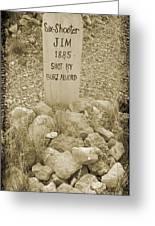 Died 1885 Tomstone Arizona Greeting Card
