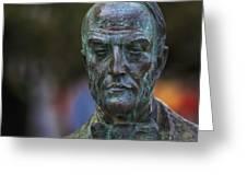 Diego Fernando Montanes Alvarez Statue Cadiz Spain Greeting Card