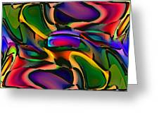 Digital Abstract Citiscape 3000 Greeting Card