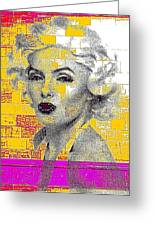 Digital Art Marilyn Greeting Card