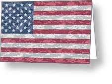 Digital Camo Us Flag Greeting Card