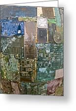 Digital D N A - Circuit Board Statue Greeting Card