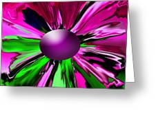 Digital Flower Greeting Card
