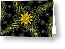 Digital Flowers Greeting Card