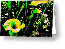 Digital Green Yellow Abstract Greeting Card