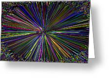 Digital Infinity Abstract Greeting Card