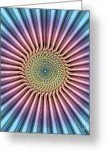 Digital Mandala Flower Greeting Card