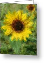 Digital Painting Series Sunflower Greeting Card