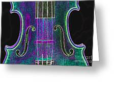 Digital Photograph Of A Viola Violin Middle 3374.03 Greeting Card