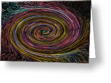 Digital Vortex Greeting Card