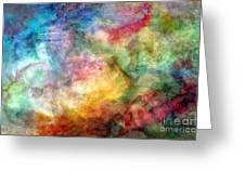Digital Watercolor Abstract Greeting Card