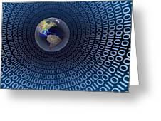 Digital World Greeting Card by Carol and Mike Werner
