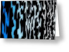 Digital Zebra Coat Greeting Card