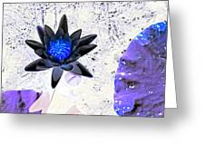 Digitally Altered Water Lily Greeting Card