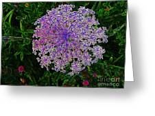 Digitized Snowflake Flower Greeting Card