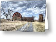 Dilapidated Barn Greeting Card