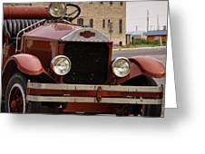 Dillon Montana Vintage Fire Truck Greeting Card