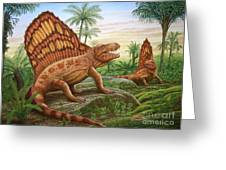 Dimetrodon Greeting Card