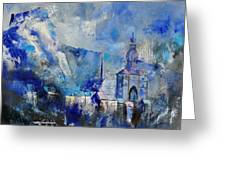 Dinant In Blue Greeting Card