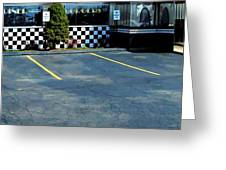 Diner At The Asphalt Headwaters Greeting Card