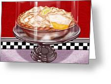 Diner Desserts - Lemon Meringue Pie Greeting Card