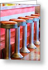Diner - V1 Greeting Card by Wingsdomain Art and Photography