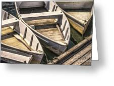 Dinghies Dockside Faded Greeting Card