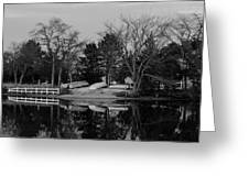 Dinghies Resting Tide Creek Black And White Greeting Card