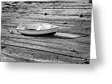 Dinghy At Low Tide Greeting Card