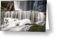 Dingmans Falls Close Up Greeting Card