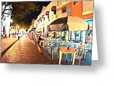 Dining Al Fresco In Merida Greeting Card