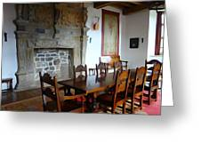 Dining At Donegal Castle Greeting Card