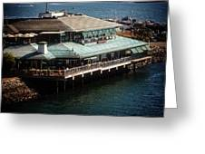 Dining On The Bay Greeting Card