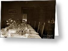 Dining Room Table Circa 1900 Greeting Card