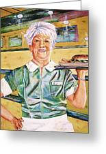 Dinner Betty Greeting Card by Linda Vaughon