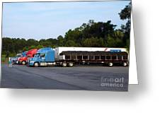 Dinner Time For Truckers Greeting Card