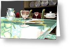 Dinning Table Greeting Card