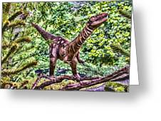 Dino In The Bronx One Greeting Card