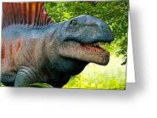 Dino In The Bronx Two Greeting Card