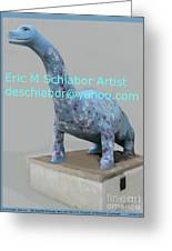 Dino The Bayville Dinosaur Greeting Card